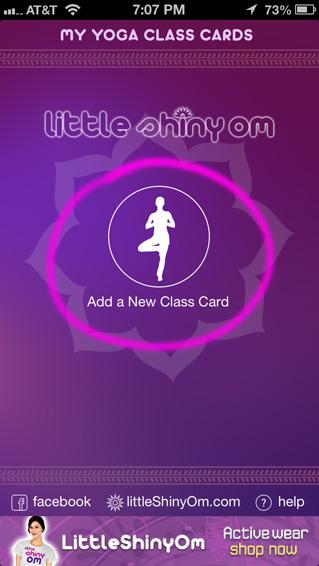 Yoga App Help Screens